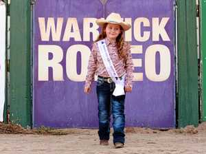 HEELS DOWN: Tiny tot fast-tracked to rope in her rodeo dream