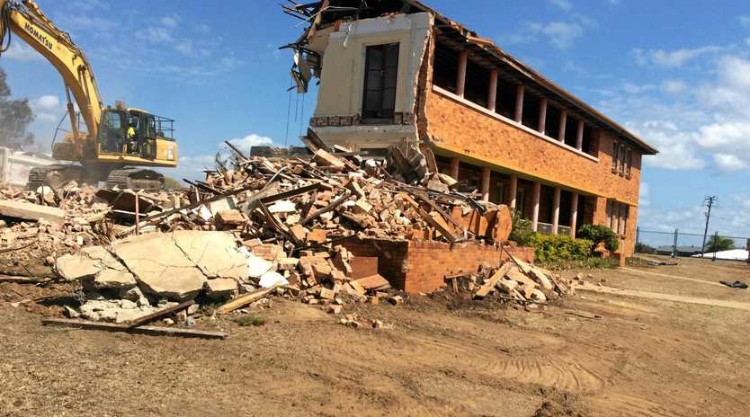 TORN DOWN: The old convent behind Star of the Sea Primary School was demolished during the September school holidays.