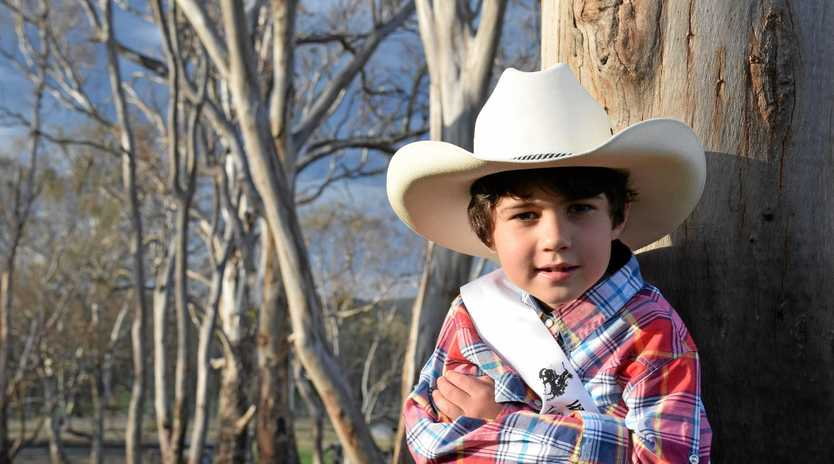 COMPETITOR: William Wooding loves to ride horses and is an entrant in the 2018 Warwick Rodeo Queen Quest for tiny tots.