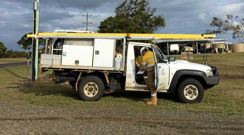 STORM DAMAGE: Ergon Energy crews attended to power outages in the Wide Bay Burnett overnight.