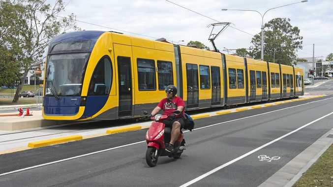 Light rail on the Gold Coast.