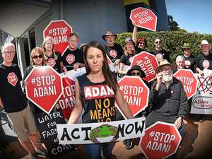 Protester calls out Ted on Adani