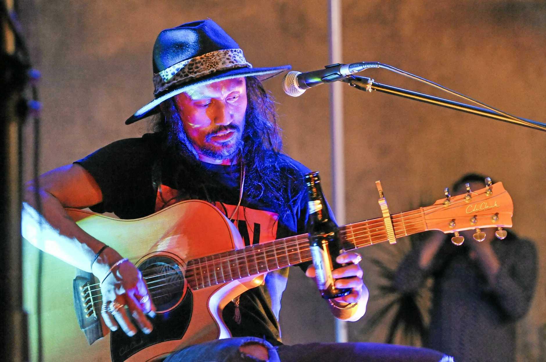 Jackson Dunn at Crow Street Food & Music Fest, on Saturday 24 February.