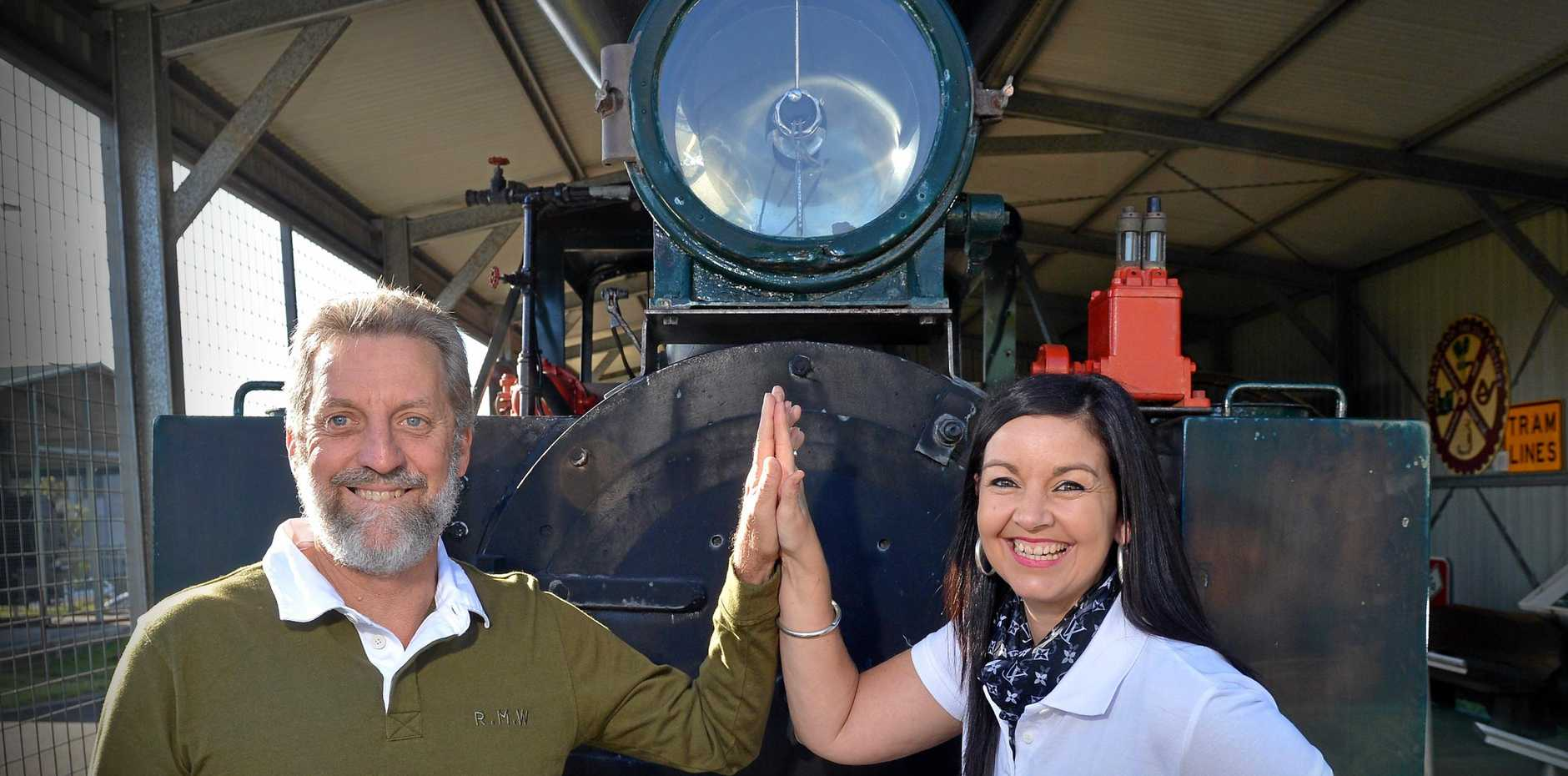 BIG WIN: Nambour Tram Co.'s Steve Barizer and Rhonda Billett-Haire have received retired trams from Victoria to help kick off their vision for the historic town.