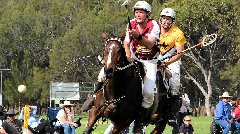 WELL DONE: Long-time Warwick and Queensland player Cameron Shepherd (front) is assistant coach of the Australian team for next year's Adina Polocrosse World Cup.
