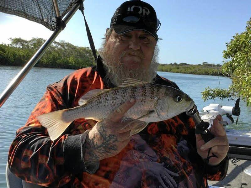 Tyron Craig had a great day at Baffle Creek for this nice barred grunter bream.