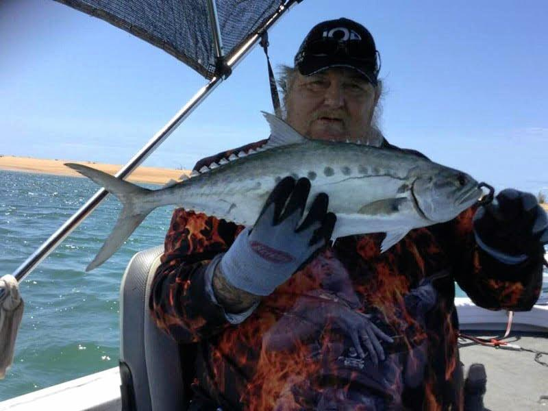 Tyron Craig had a great day at Baffle Creek for this feisty queenfish.