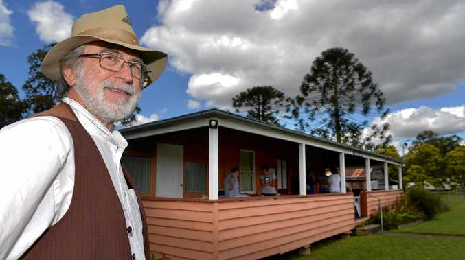 MILESTONE: This year marks the 150-year anniversary of the founding of Bankfoot House by pioneers William and Mary Grigor. Now known as the Glass House Mountains, this area has long been a special meeting place for the Kabi Kabi and Jinibara People. Ron Gillinder welcomes visitors to Bankfoot House.