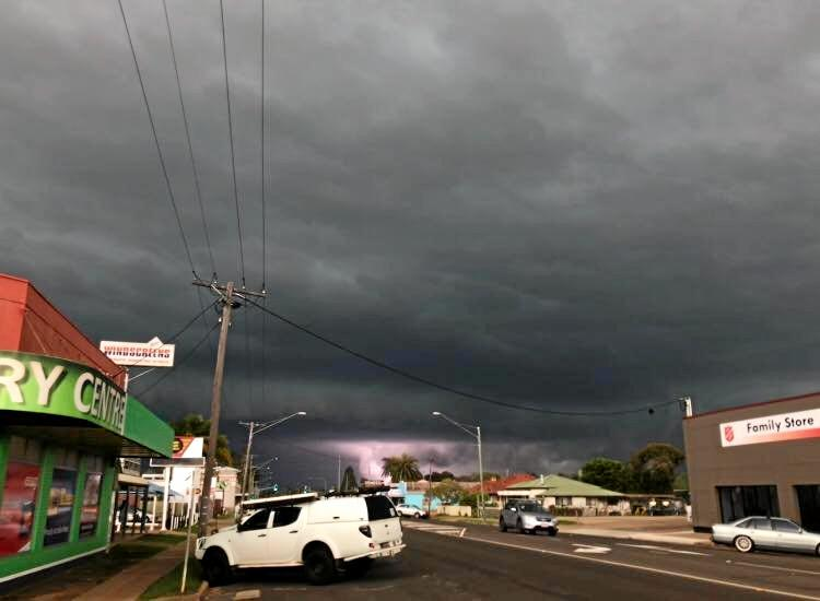 Devastating weather in Kingaroy.