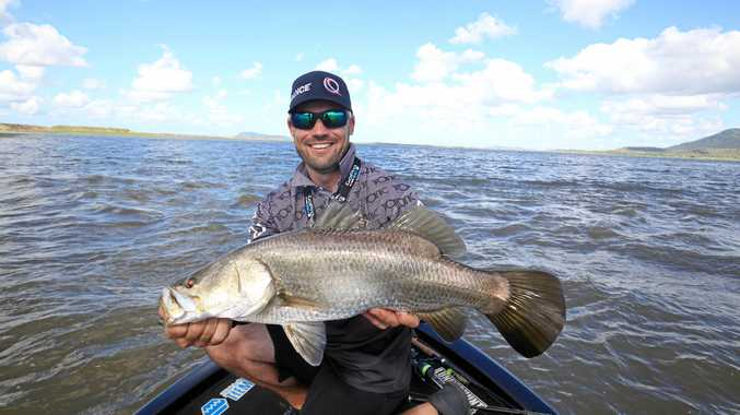 WHAT A CATCH: Australian Fishing Championships angler Dean Silverster landed this impressive barramundi at Mackay.