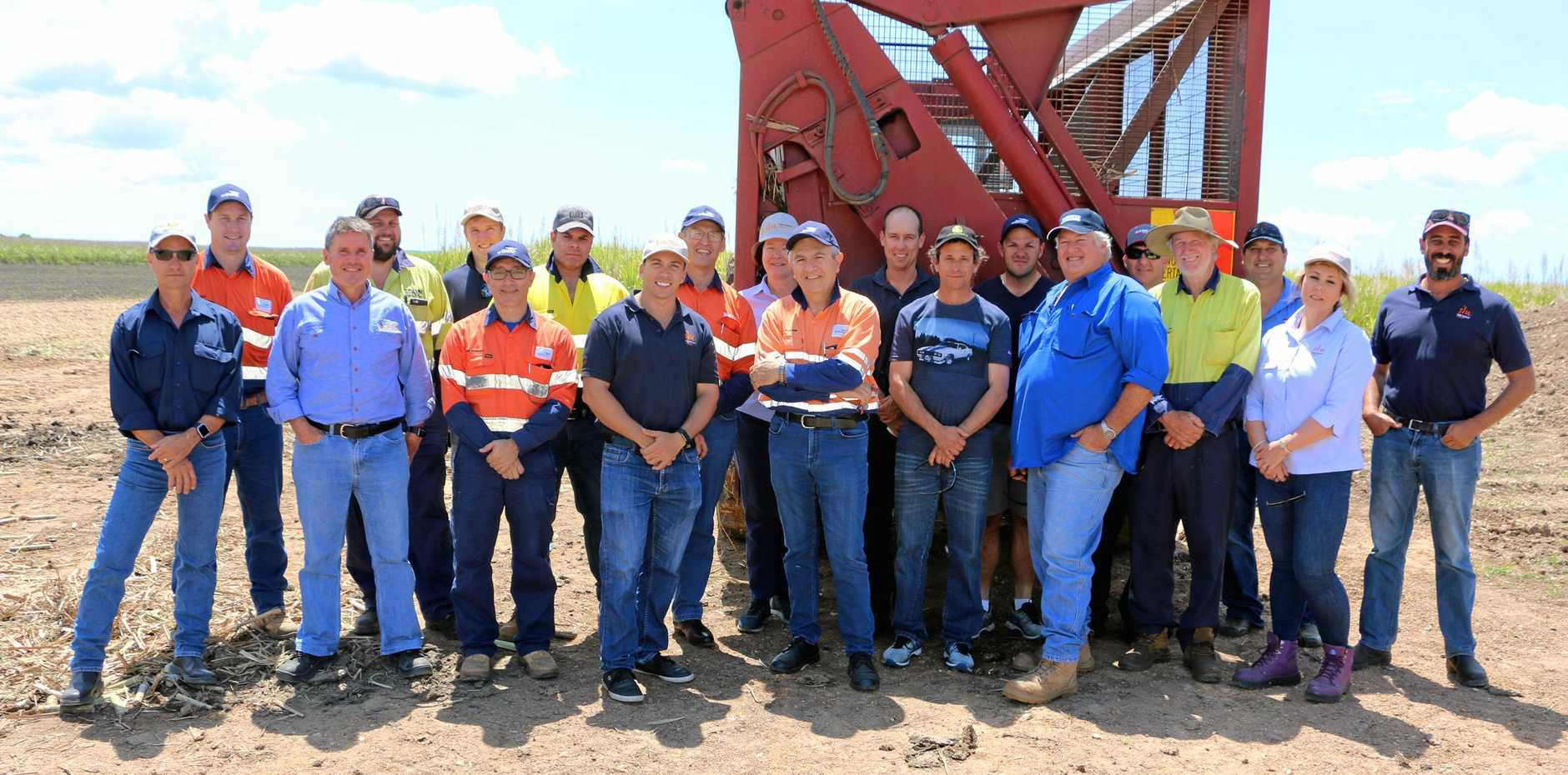 STUDY GROUP: A group of sugar cane growers and millers from North Queensland recently visited Childers to learn about harvesting efficiency from their local counterparts.