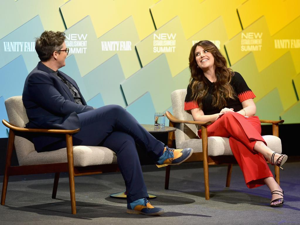 Hannah Gadsby and Monica Lewinsky appeared on stage together at an event in Los Angeles. Picture: Getty Images