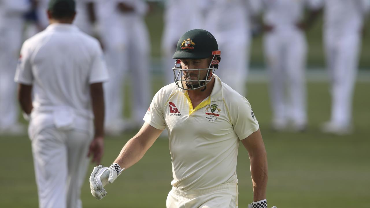 Shaun Marsh was one of three Australians out to Mohammad Abbas on Wednesday