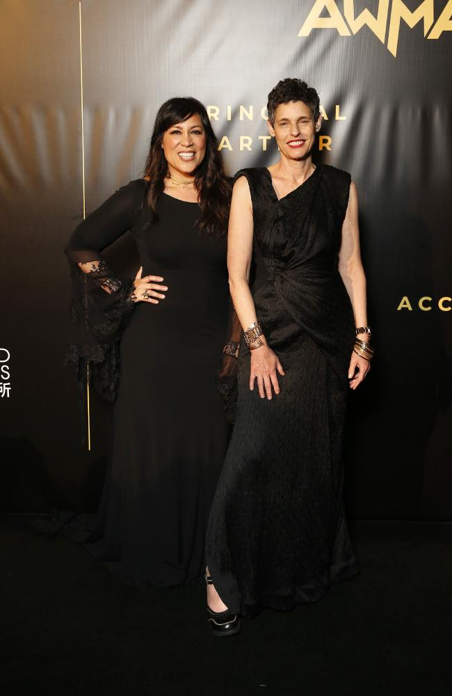 Kate Ceberano and Deborah Conway at the inaugural Australian Women in Music Awards. Picture: AAP/Josh Woning