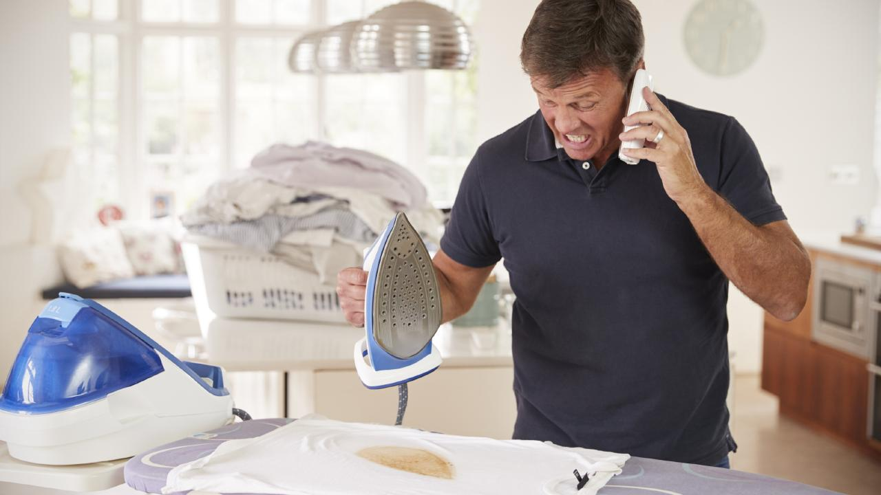Yep, we all hate ironing as much as this bloke. Picture: Supplied