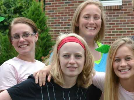 Sisters Allison King (back row, left) Abby Jackson (front left), Amy Steenburg (front right) and Mary Dyson (back row, on the right of Allison) were all killed in the Saturday crash. Picture: Facebook