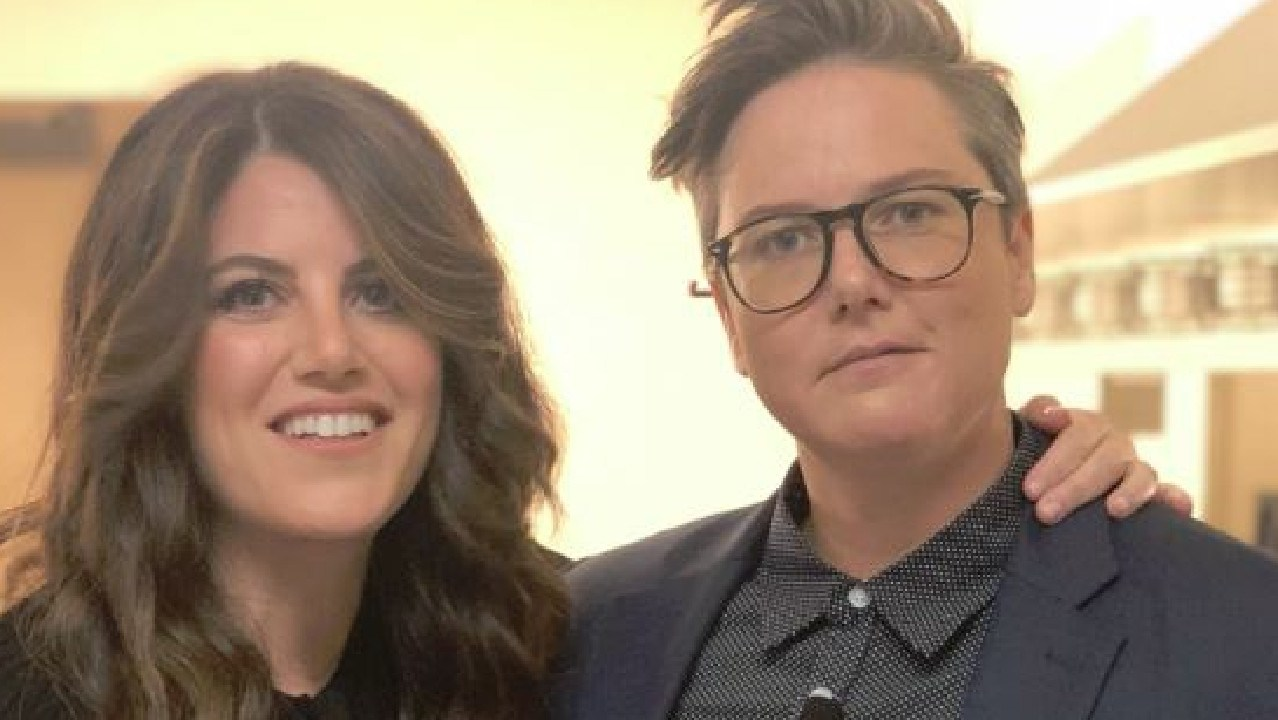 Monica Lewinsky was emotionally drained after seeing Hannah Gadsby's Nanette. The two are now new pals. Picture: Twitter