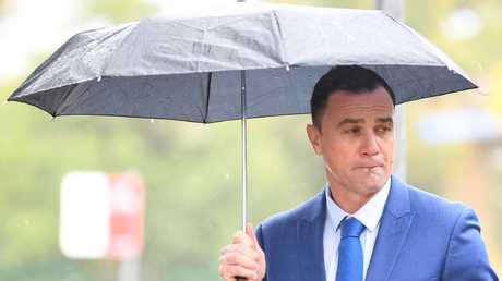 Australian musician Shannon Noll arrives at Sutherland Local Court in Sydney, Thursday, October, 11, 2018. Shannon Noll is facing drug possession charges. Picture: AAP/Dean Lewins.
