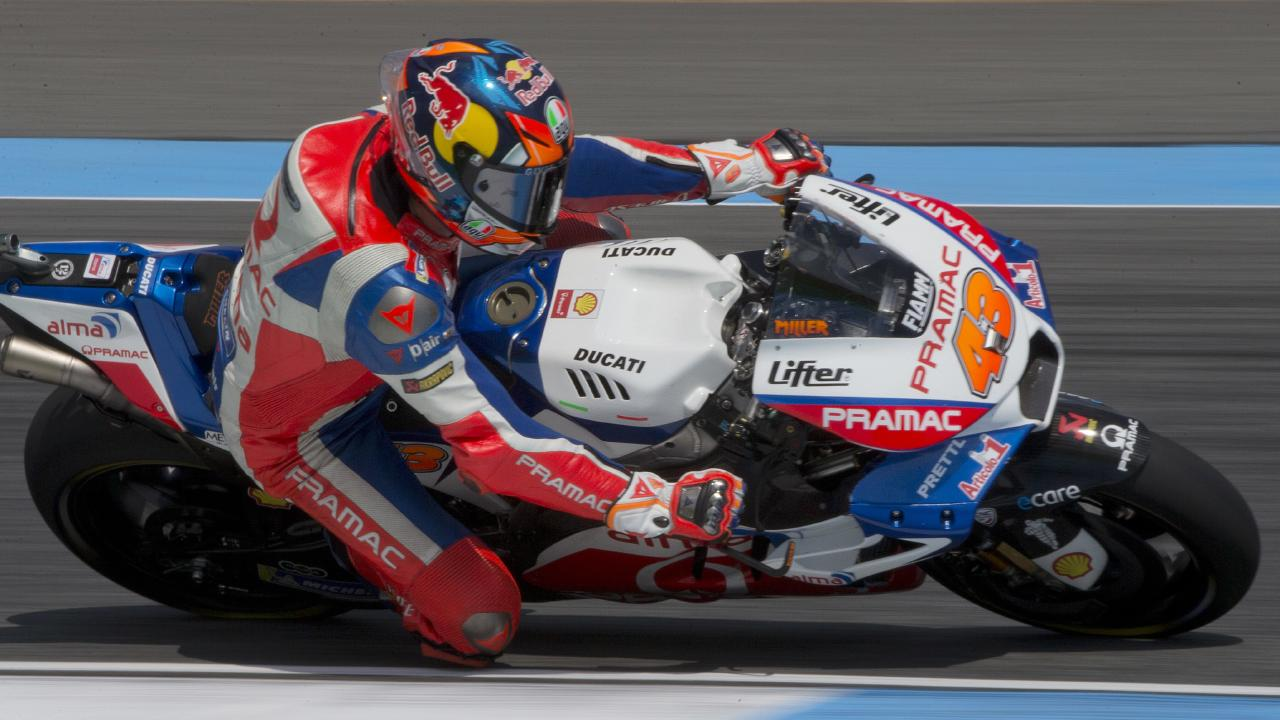 Jack Miller is chasing a win in the Australian MotoGP at Phillip Island. (Photo: Gemunu Amarasinghe/AP)