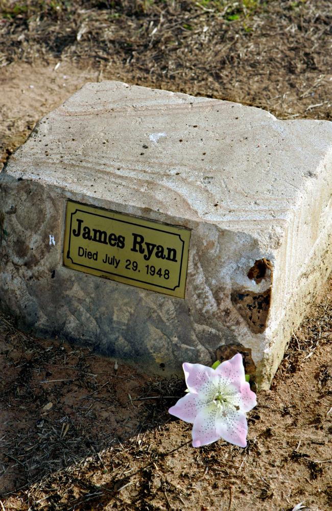 Ipswich General Cemetery grave of James Ryan who claimed he was Dan Kelly of the Ned Kelly gang. Picture: JamesRobertson