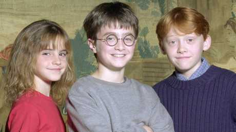 The three main stars became world famous from a very young age, including Grint (right). Credit: AP