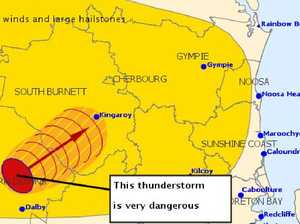 Destructive winds, large hail set to batter SEQ