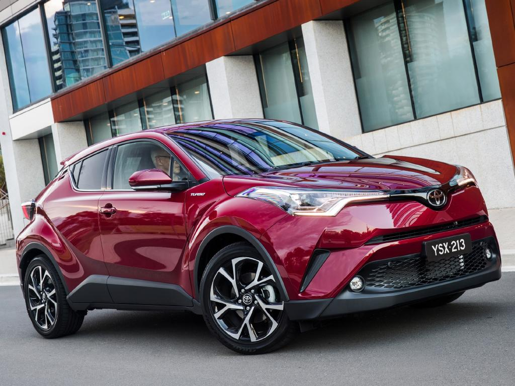 Toyota C-HR. Gets a hybrid version, as do Corolla and Camry and, next year, RAV4