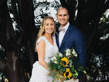 Ariana Neuman and Angus Greenwood celebrated their wedding day at his father's home. Picture: Jack Chauvel