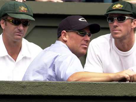 Wimbledon 2001: Waugh looks thrilled.
