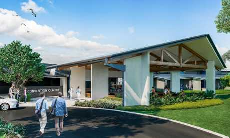 A 1600sq m convention centre is on the way to the Novotel Twin Waters Resort, which recently sold for $100 million.