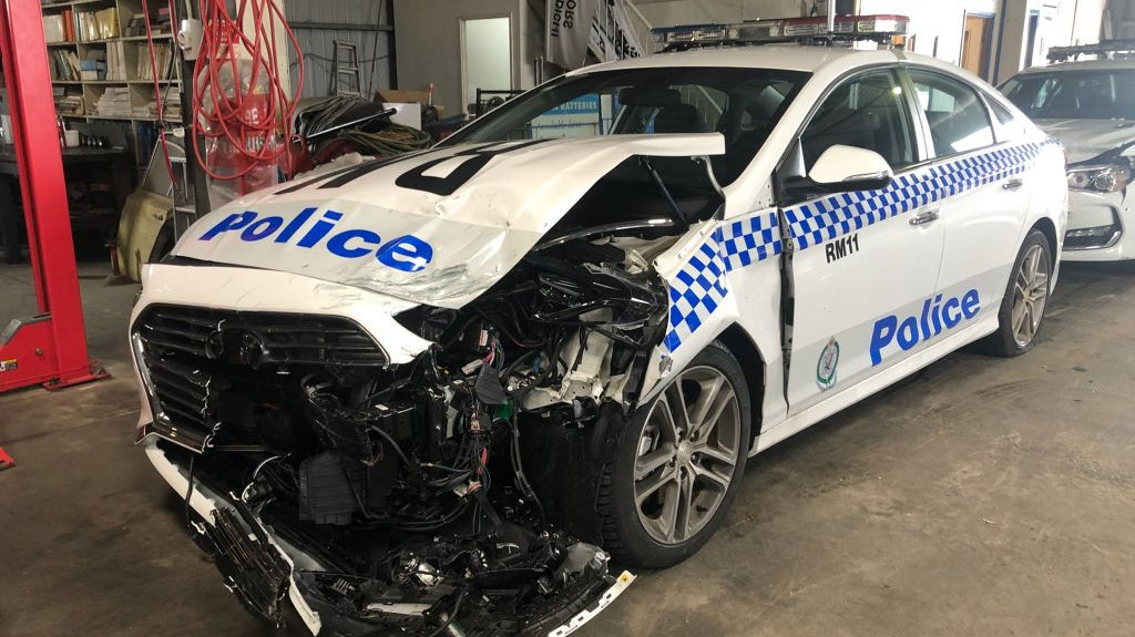 POLICE PURSUIT: Three police vehicles were damaged during a dramatic pursuit which saw a man and a pregnant woman face Lismore Local Court.