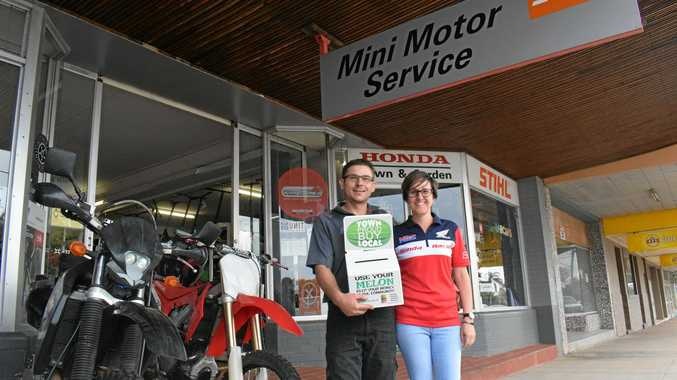 TOWN PROUD: Steven and Dianne Hammermeister of Mini Motors Chinchilla are happy to take part in the 2018 campaign.