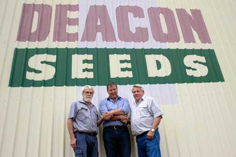 Mark Schmidt (centre) will be taking over as general manager at the Dalby business.