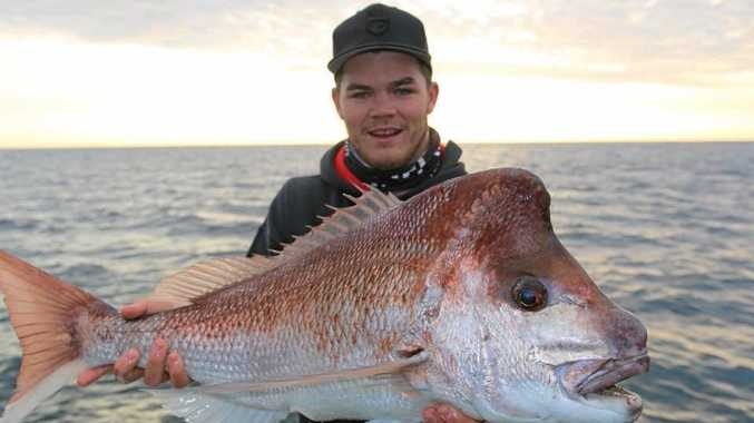 Craig and his son Shaun Cameron caught this cracker snapper.