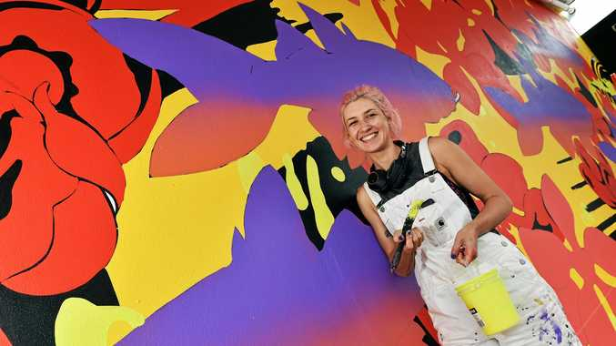 Internationally recognised artist, illustrator and muralist, George Rose has begun creating the Sunshine Coast's first animated mural in Caloundra.