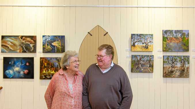 MEMORABLE TRIPS: Toni and Bill Elliott at the opening of Bill's exhibition at Yamba Museum.