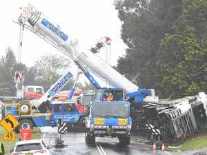 Chicken truck crash cleanup