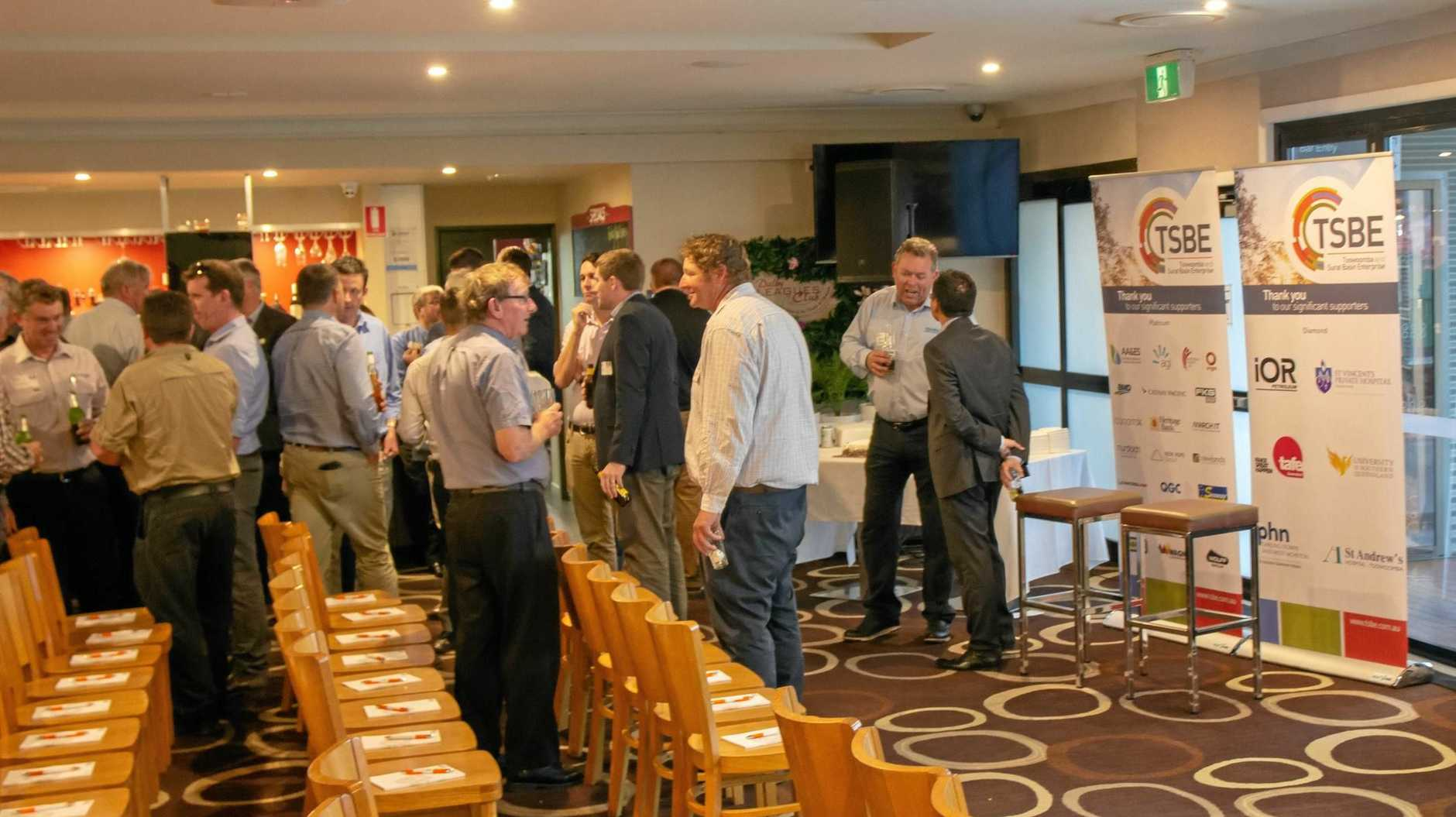 TALKING BUSINESS: THe region business community came together at the Dalby Leagues CLub on Thursday for TSBE's October Enterprise Evening.
