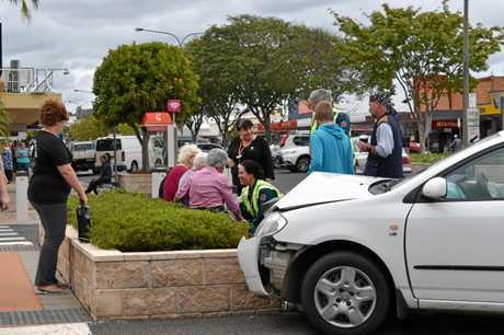 Paramedics treated the driver at the scene.