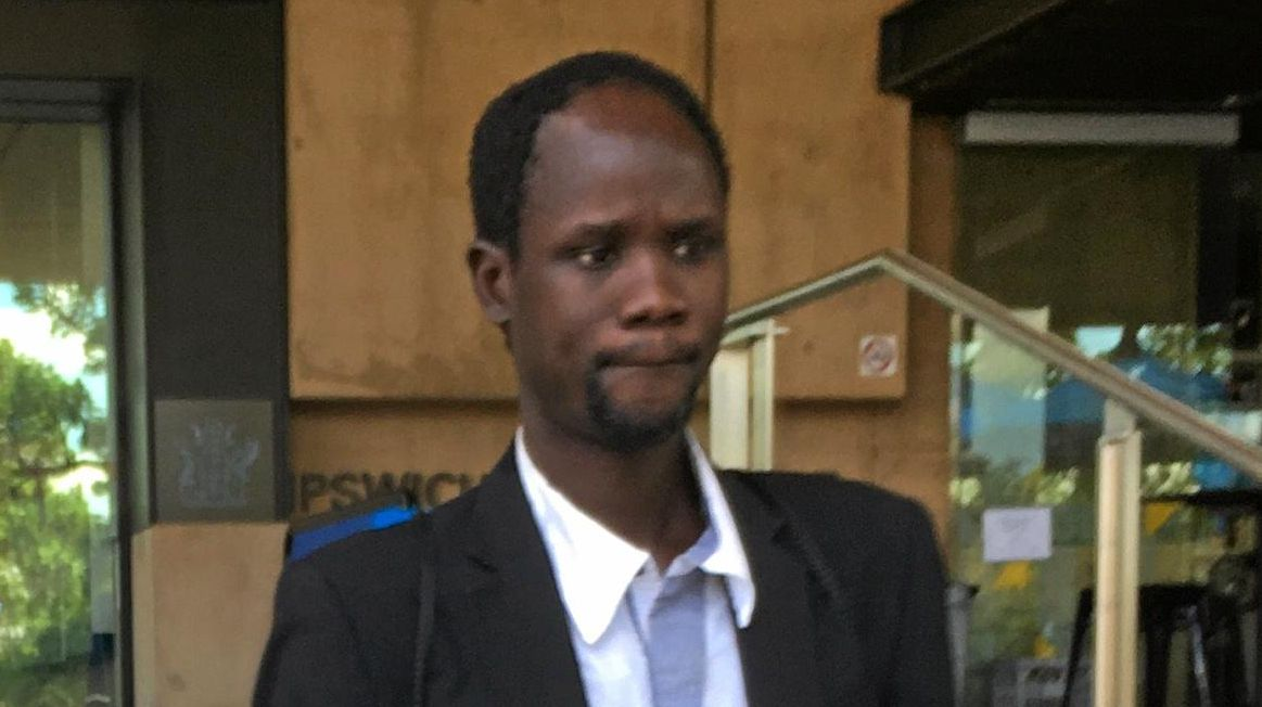 WARNED: Deu Deng leaves Ipswich Courthouse after being convicted of drink driving.