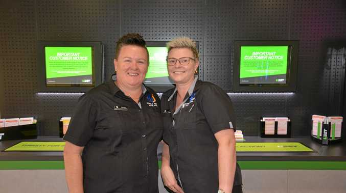 PLACE A BET: Co-managers Beinta Kelly and Lisa Marston are keen to show residents how to place a bet on their new TAB machines.