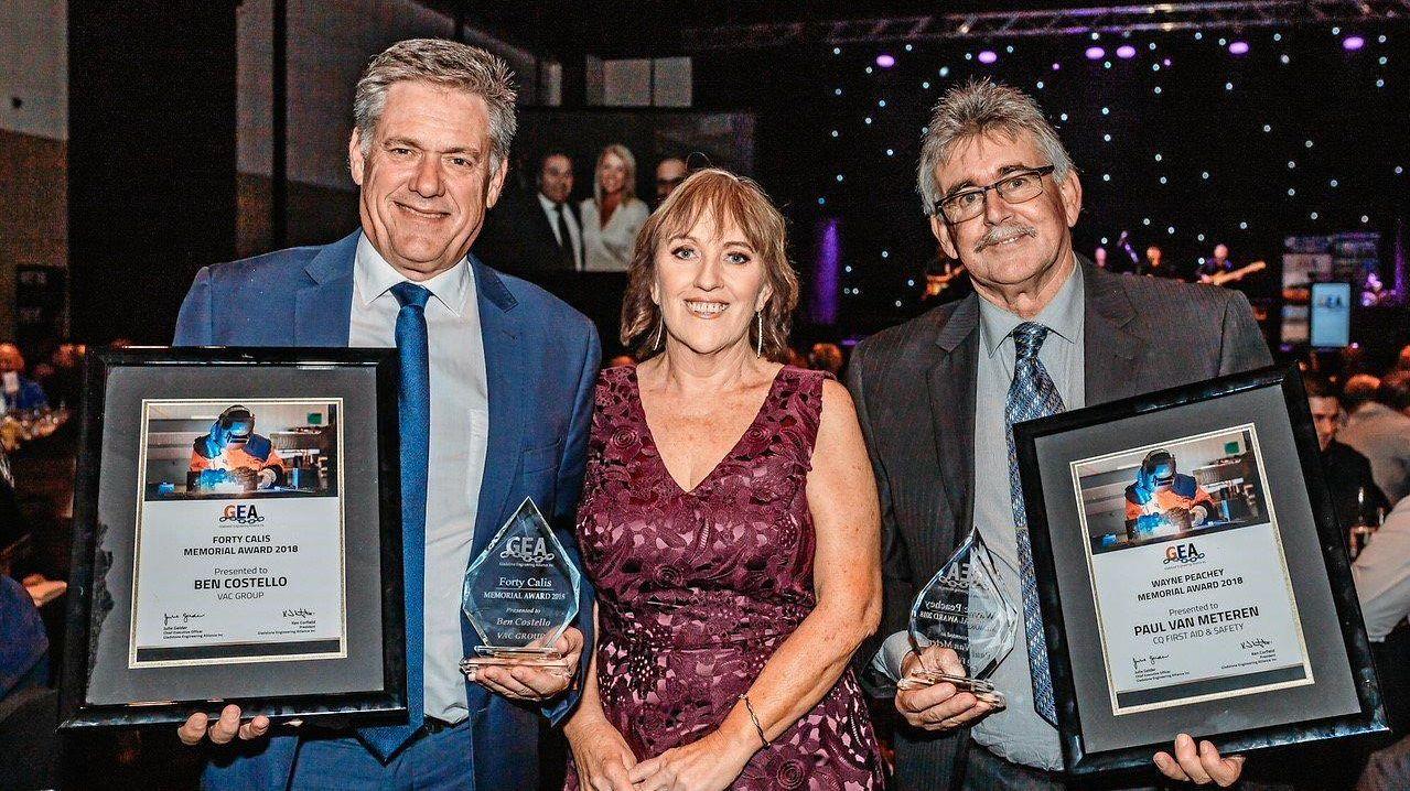 INDUSTRY WINNERS: Peter Howarth, Julie Gelder and Paul Van Meteren.