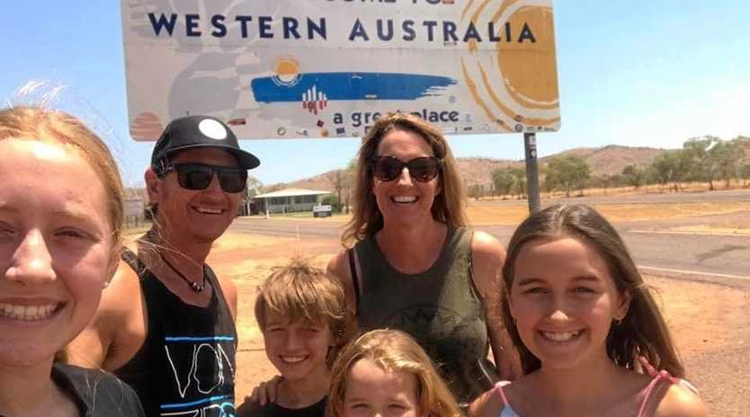 The Sealby's stop for a selfie at the WA border.