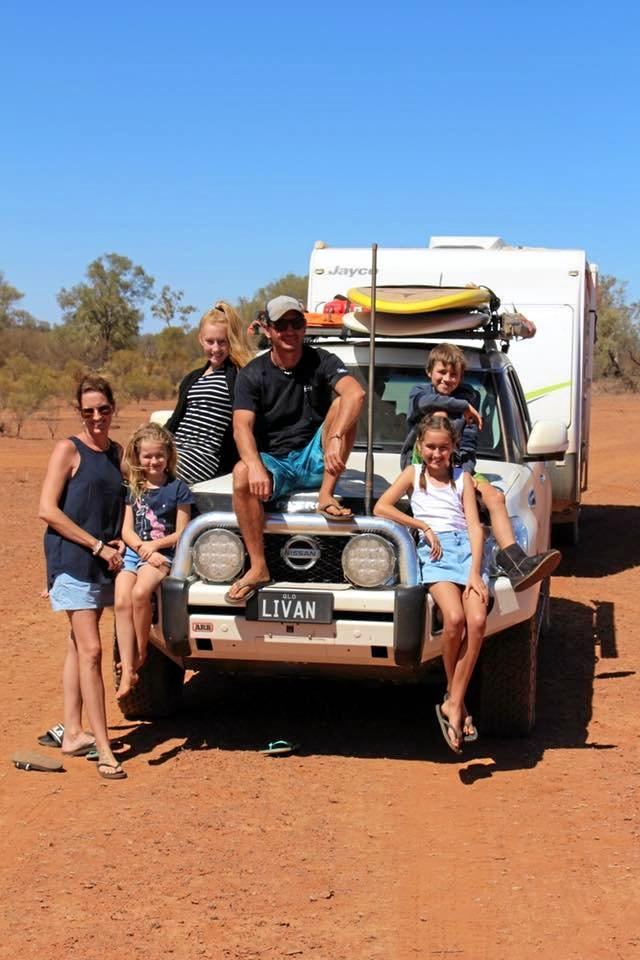 On the road the Sealby family have made some great friends.