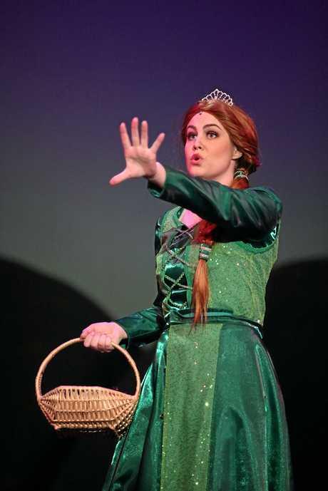 Elesha Hetherington as Princess Fiona in the Toowoomba production of Shrek The Musical.