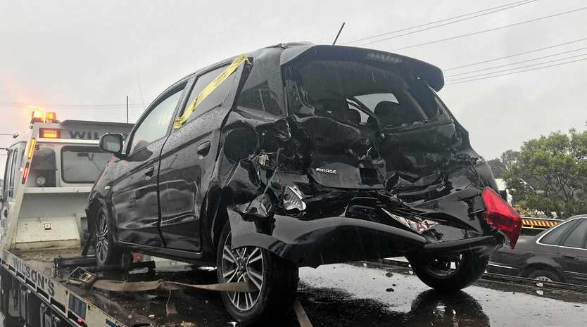 A truck and car crash on the Mary Valley Rd has left one driver in hospital.