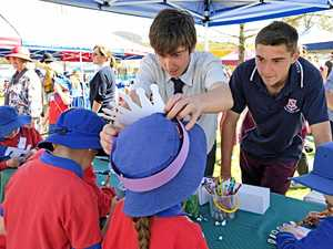 Students lend hand for bumper under 8s day