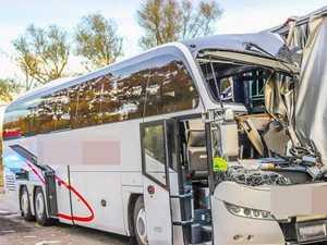 30 tourists injured in German bus crash