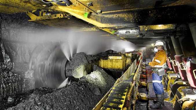 Longwall mining at a North Goonyella mine.