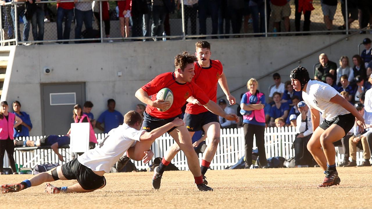 A schoolboy rugby derby at Barker College in Hornsby in August.